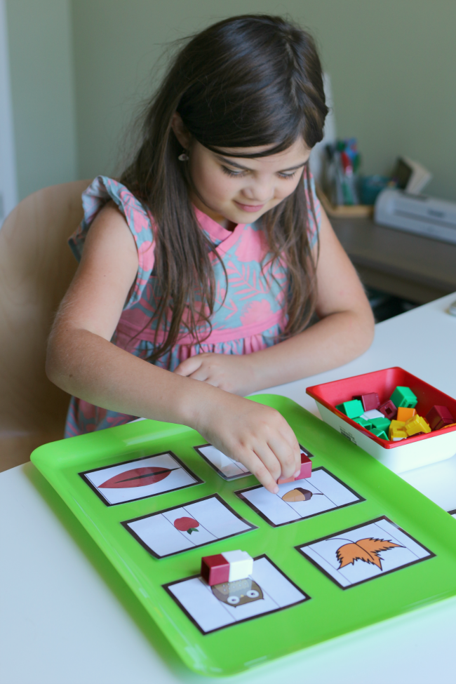 math center measurement cards for preK by no time for flash cards