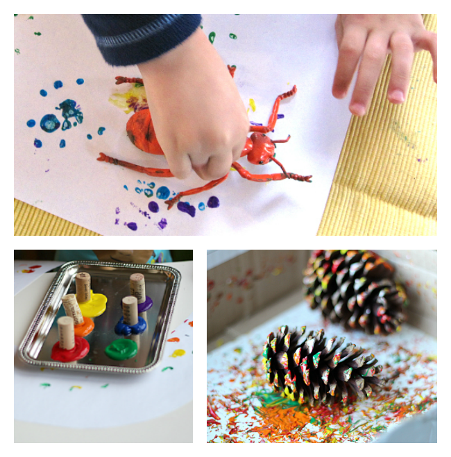 painting projects for preschool without paintbrushes no time for flash cards