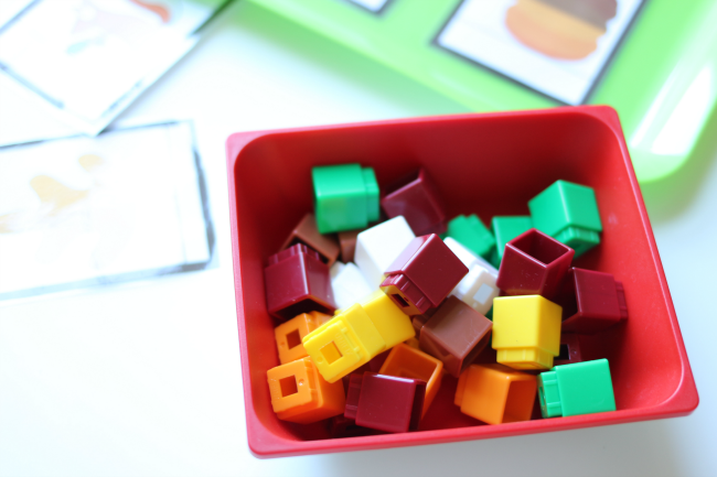 unifix cubes fall math activity