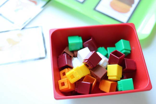 unifix cubes fall math activity