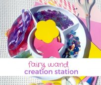 Fairy wand creation station feature
