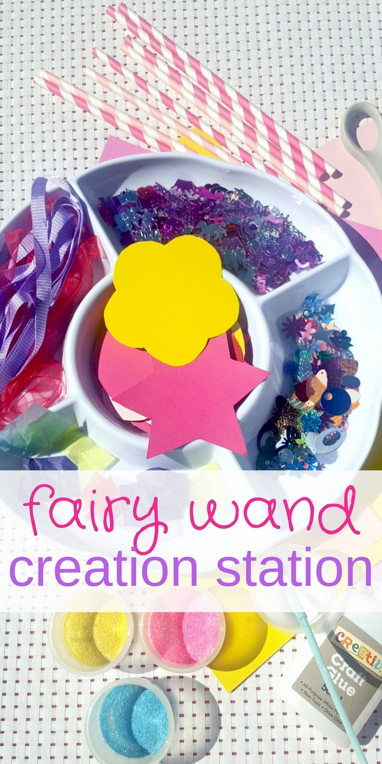 Fairy wand creation station pinterest