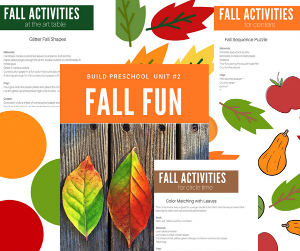 Fall fun theme for preschool