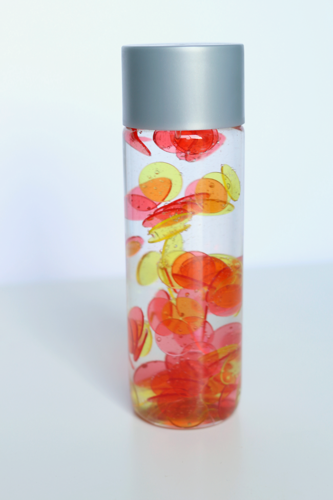 color mixing color sensory bottles
