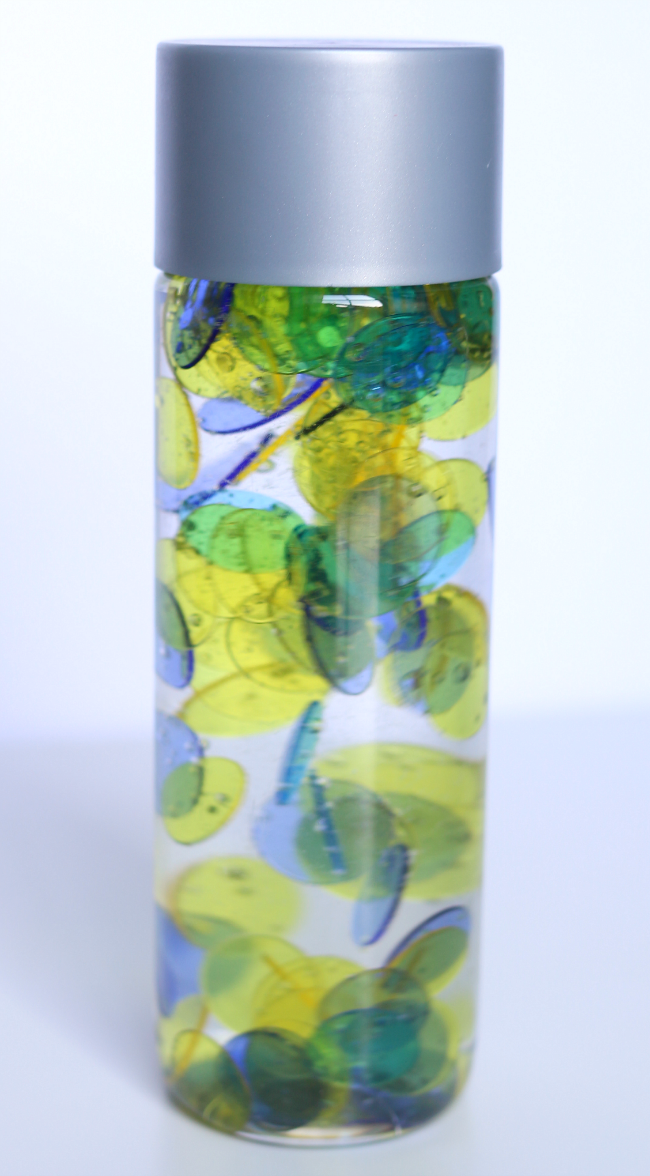 color mixing sesory bottle for preschool