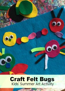 Summer Art: Craft Felt Bugs