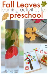 fall preschool lessons