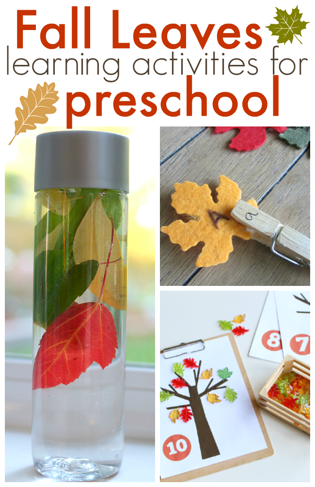 fall preschool lessons