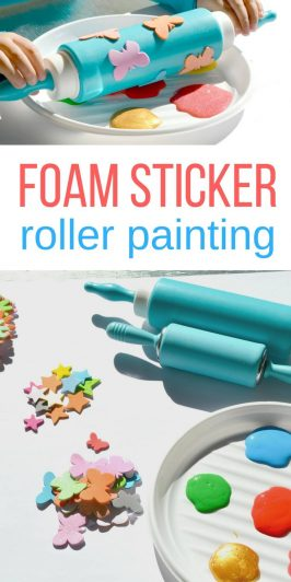 Foam Sticker Roller Painting for Toddlers