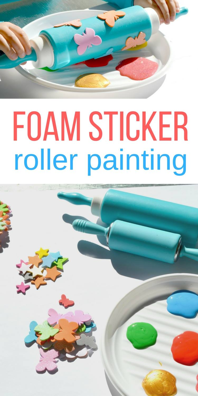 foam sticker roller painting pinterest