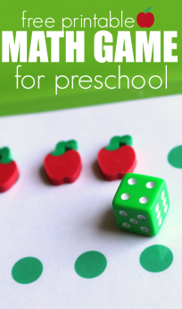 free printable math game for preschool free printable