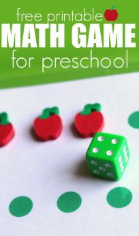 free printable math game for preschool free printable