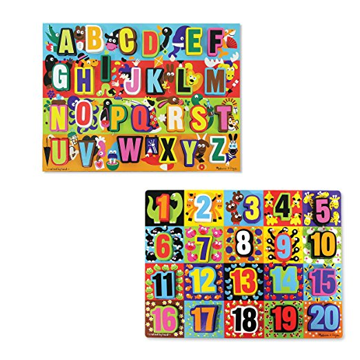 letters and numbers puzzles from melissa and doug
