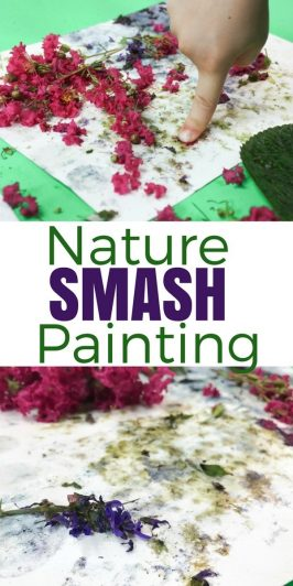 Nature Smash Painting – Process Art for Kids