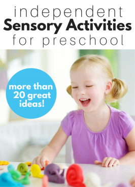 Independent Sensory Activities for Preschool