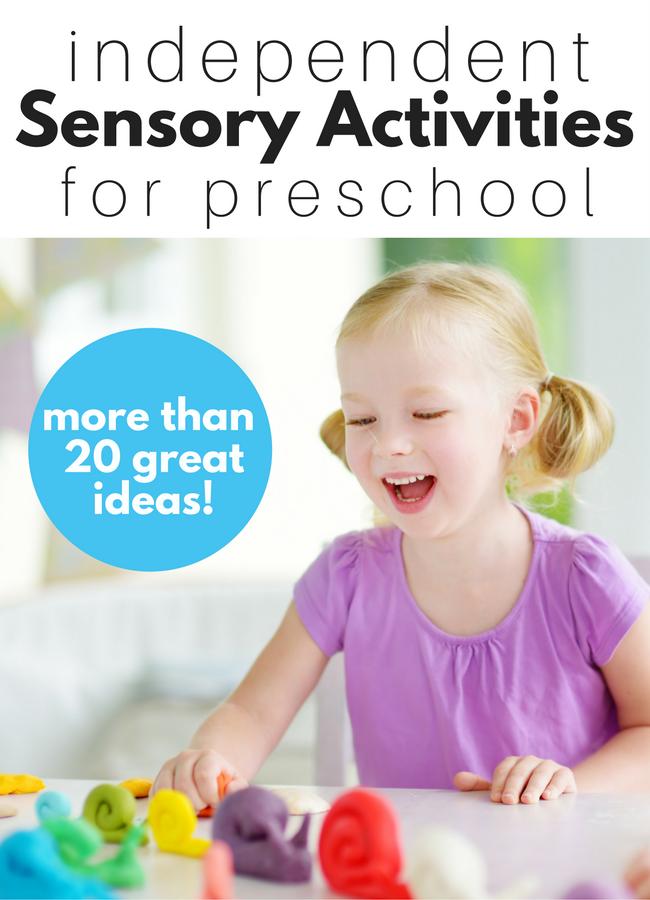 preschool sensory play ideas