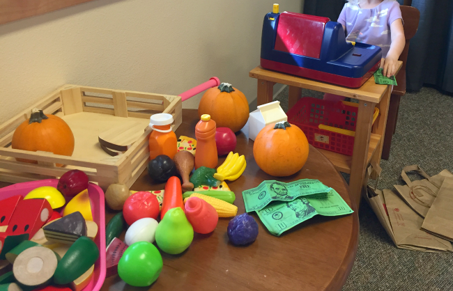 preschool pretend play pumpkin patch