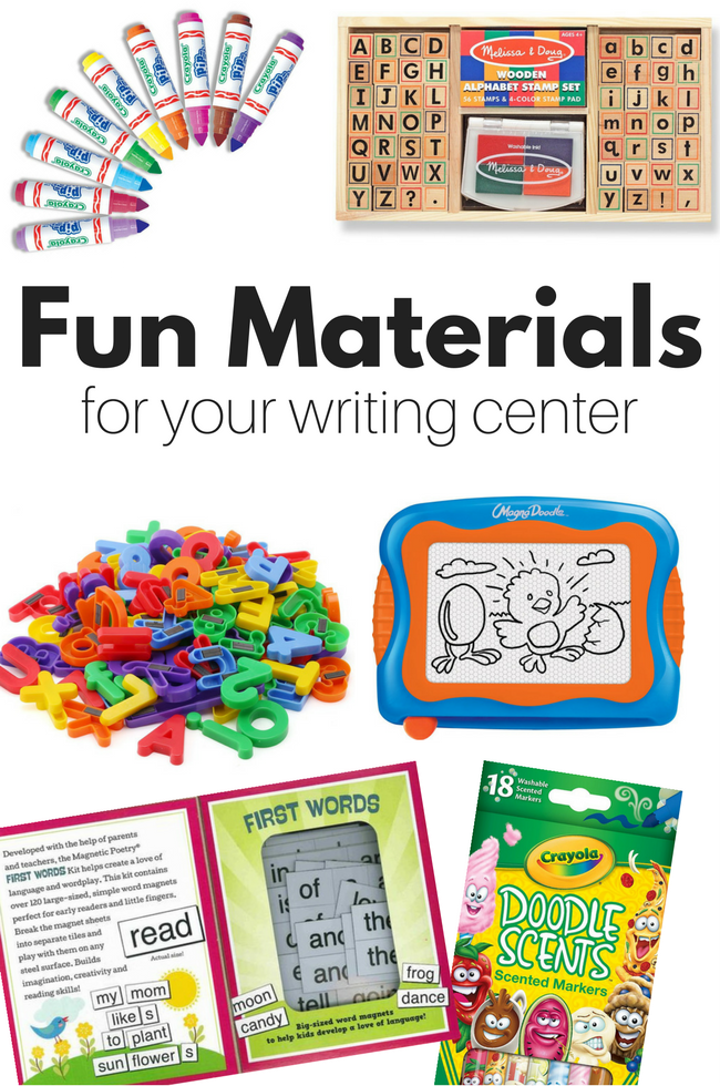 Fun Materials for writing center