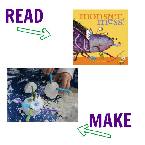 Monster muck and monster mess halloween craft