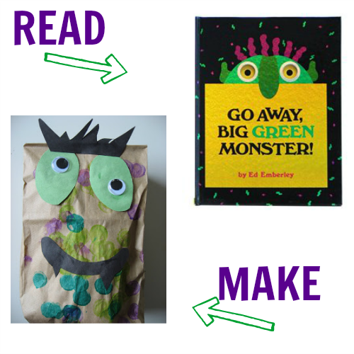 graphic about Go Away Big Green Monster Printable Book called 8 Monster Crafts with Guides that Video game - Read through Produce! - No