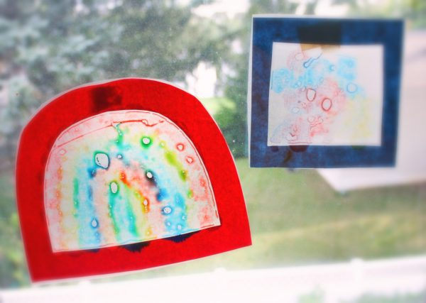 Color Mixing Shape Suncatchers With Do A Dot Markers No