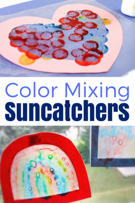 Color Mixing Shape Suncatchers with Do-a-Dot Markers