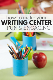 ideas for writing centers in preschool