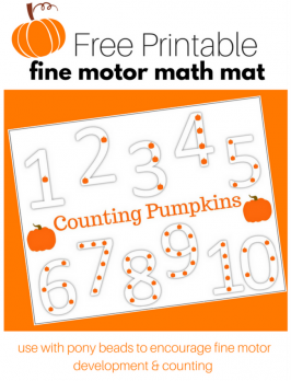 Pumpkin Counting Activity with Free Printable