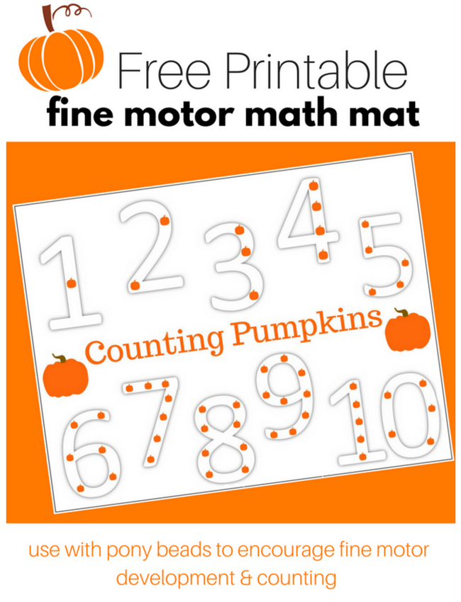 image about Legend of the Sand Dollar Poem Printable identified as Pumpkin Counting Match with Totally free Printable - No Year For