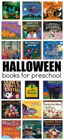 huge list of halloween books for preschool
