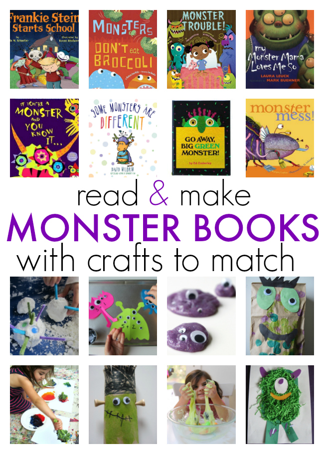 graphic regarding Go Away Big Green Monster Printable Book identify 8 Monster Crafts with Textbooks that Sport - Go through Produce! - No