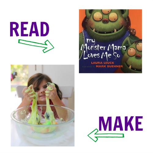monster read & make for preschool