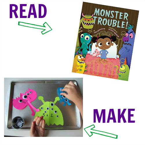 8 Monster Crafts With Books That Match Read Make No Time For Flash Cards