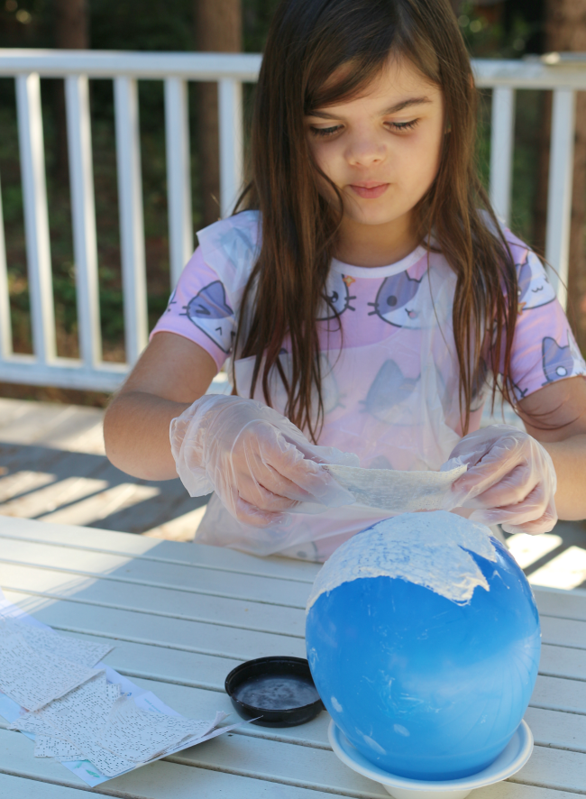 plaster glow in the dark moon craft