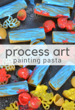 Process Art: Painting on Pasta