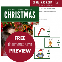 Christmas Thematic Unit for Preschool – FREE download!