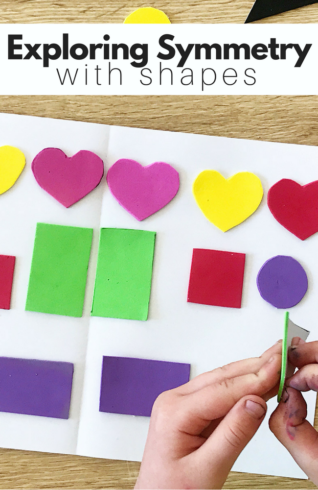 Exploring Symmetry preschool shapes activity