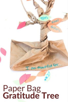 Paper Bag Gratitude Tree for Kids