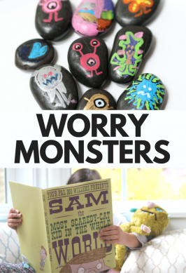 'Worry Monsters' from the web at 'https://www.notimeforflashcards.com/wp-content/uploads/2017/11/Sam-the-most-scaredy-cat-kids-in-the-whole-world-worry-monsters-craft-7-266x389.png'
