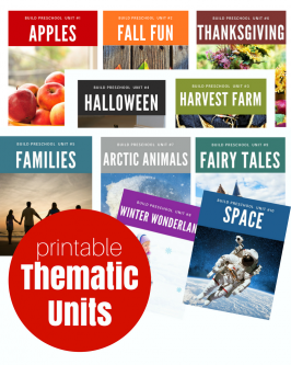 Thematic Units for Preschool { Digital Downloads}