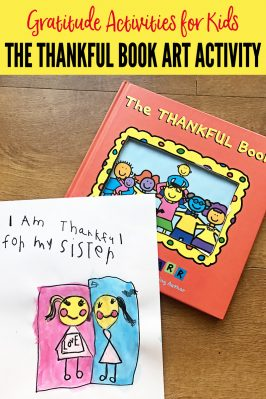 Gratitude Activities for Kids: The Thankful Book Art Activity