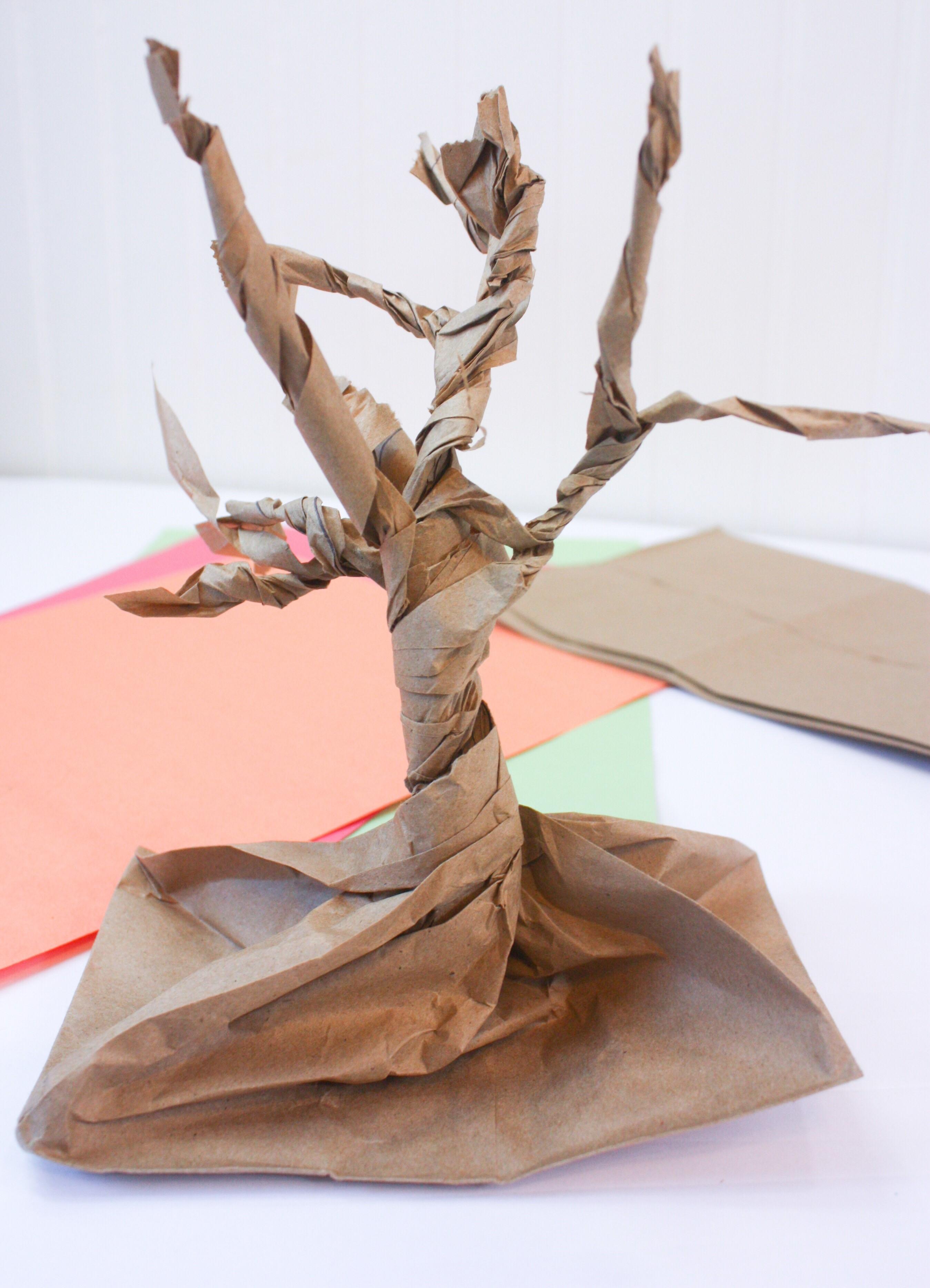 paper bag gratitude tree for kids no time for flash cards. Black Bedroom Furniture Sets. Home Design Ideas