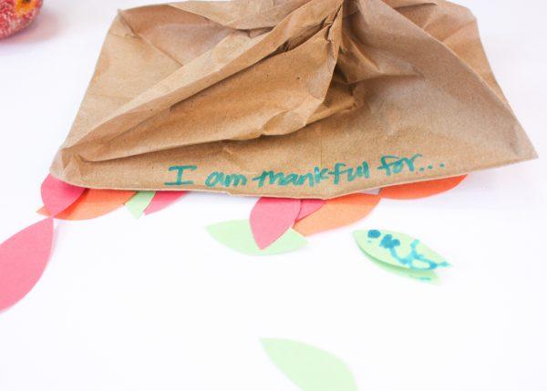 paper bag gratitude tree 12