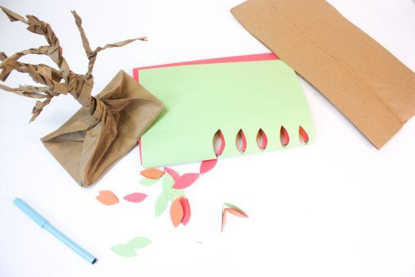 paper bag gratitude tree 13