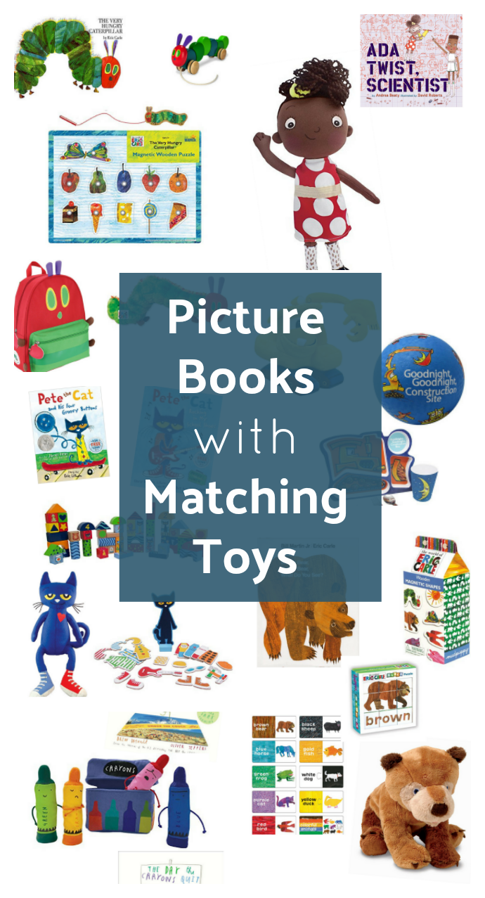 picture books with toys that match