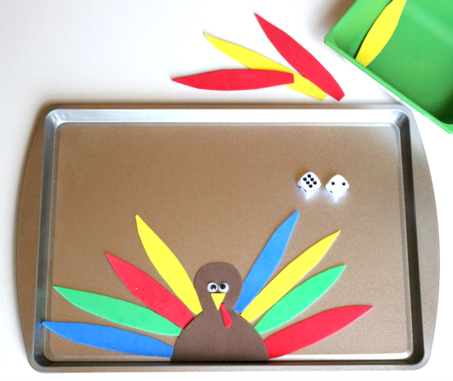 thanksgiving math game for PreK