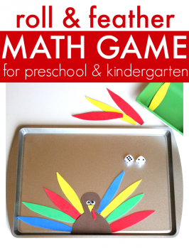 Roll & Feather – Turkey Math Game For Preschool