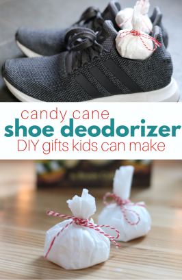 Candy Cane Shoe Deodorizer DIY