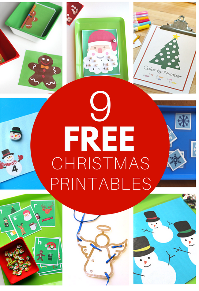 FREE Christmas Printables for Kids - No Time For Flash Cards