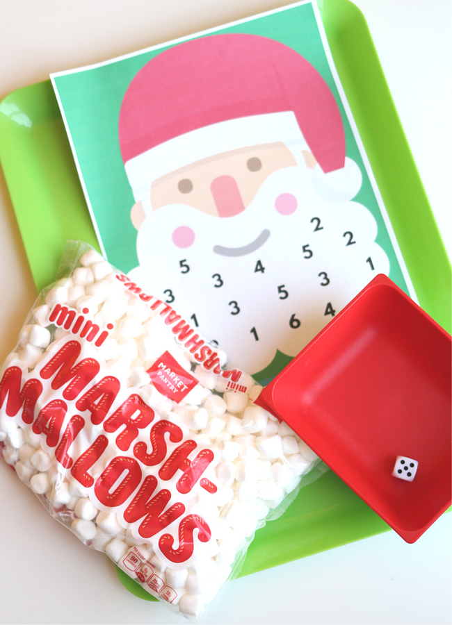 Santa math game for kindergarten